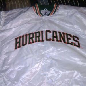 New Starter Miami Hurricanes Jacket